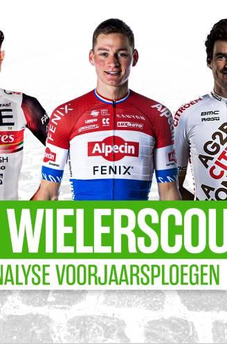 """DEEL 3. Onze wielerscout fileert de voorjaarsploegen: """"MVDP is beter omringd dan WVA, er zit meer winnend vermogen in de selectie van de broers Roodhooft"""""""