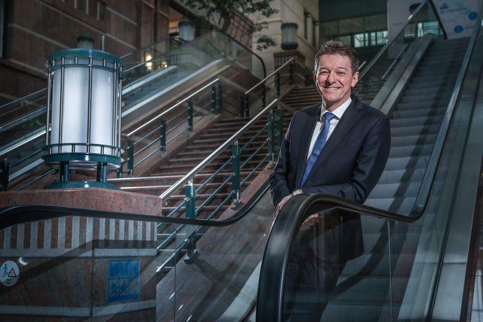 KBC-baas Johan Thijs (55) denkt niet dat de rente de volgende jaren zal stijgen.
