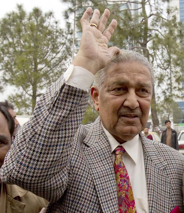 Abdul Qadeer Khan in 2013. Hij was geliefd 'vanwege zijn kritieke bijdrage om Pakistan een kernwapenstaat te maken'. Beeld EPA