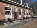In Wouw protesteerde café Donkenhof mee.