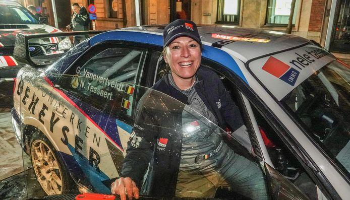 Nele Tassaert was co-pilote tijdens de rally 6 uren van Kortrijk afgelopen weekend.