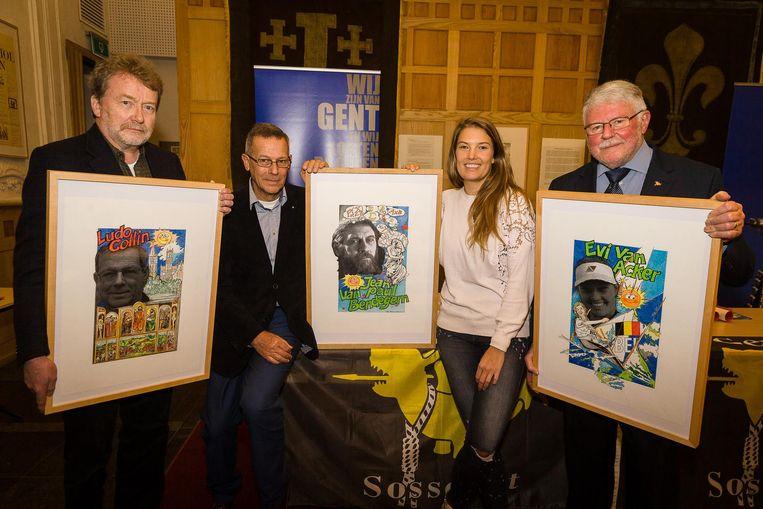 Ludo Collin en Evi Van Acker kregen een erkenning als 'Gentse Handjes'.