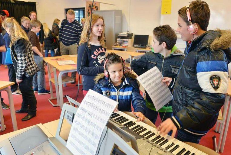 Open dag op de regionale scholengemeenschap Lek en Linge in Culemborg. Beeld William Hoogteyling, Hollandse Hoogte