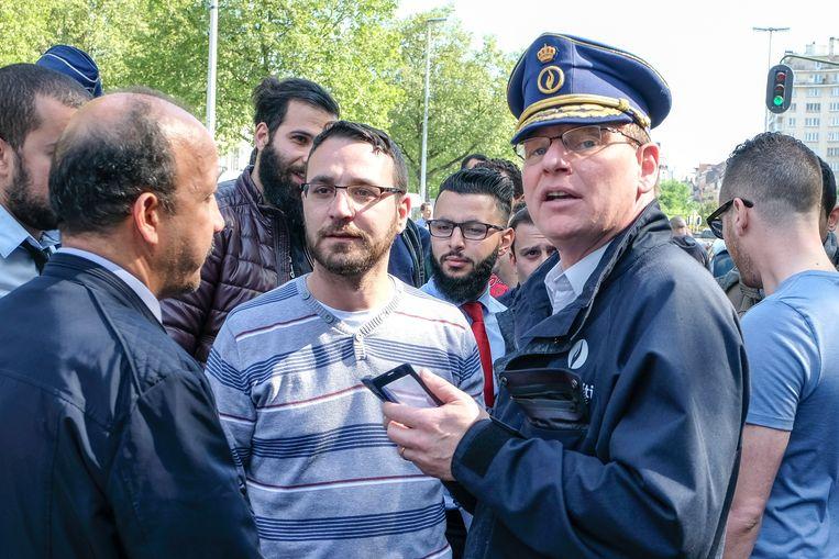 Commissaris Vandersmissen heeft regelmatig het commando op betogingen (archiefbeeld). Beeld Marc Baert