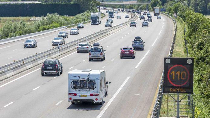 Verkeer op de Franse Autoroute