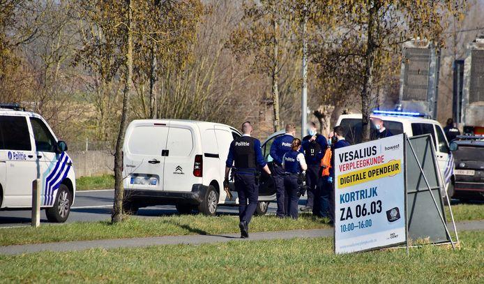 De zoekactie en arrestatie zorgden voor wat opschudding in de buurt van het bedrijvenpark Evolis, op de grens van Kortrijk en Zwevegem.