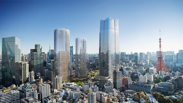 Het Toranomon-Azabudai-project in Tokio.