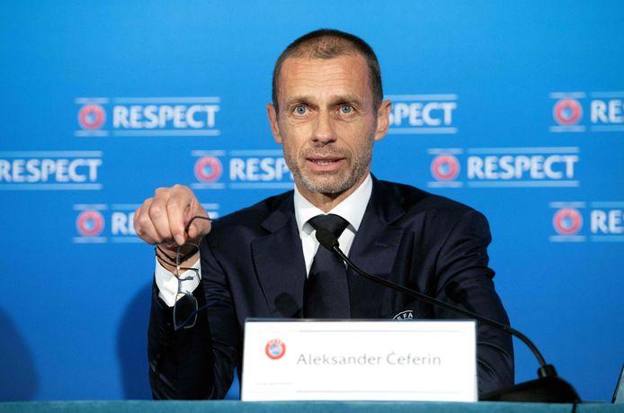 UEFA-voorzitter Aleksander Ceferin.