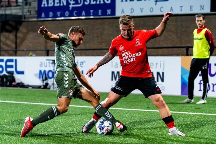 Dylan Seys is nu nog vaste invaller bij Helmond Sport, maar zal - mits fit - basisspeler zijn.
