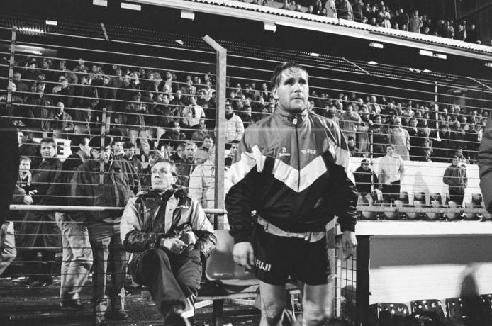 Ton Lokhoff en op de achtergrond trainer Ronald Spelbos.