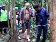 Verdwaalde Brit na drie dagen in Thaise jungle gered: 'Ik zoog regenwater op met grasstengels als rietje'