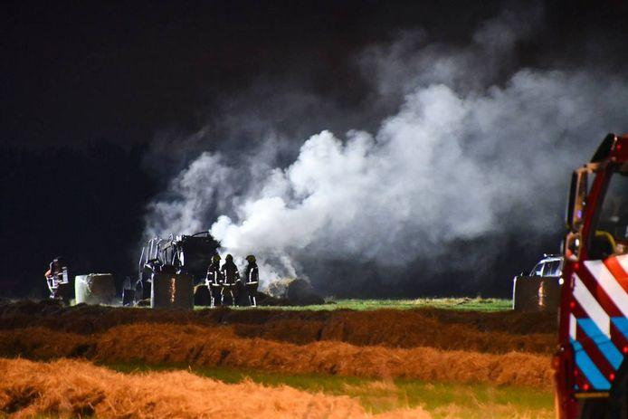De rook die bij de brand ontstond, was aan de andere kant van de Westerschelde te zien.