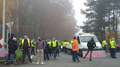 Regering niet van plan brandstofprijzen aan te passen, E19 geblokkeerd in Wallonië