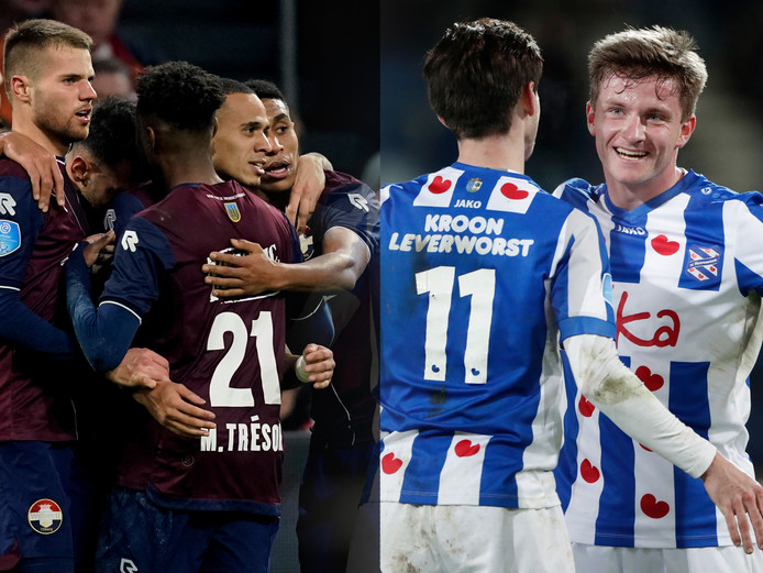 Willem II (l) en Heerenveen hebben dit seizoen genoeg reden tot juichen.