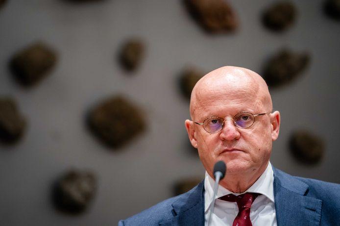 Demissionair Minister Ferdinand Grapperhaus van Justitie en Veiligheid.