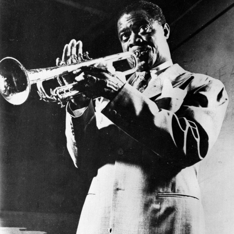 Amerikaans jazztrompettist Louis Armstrong. Beeld Roger-Viollet