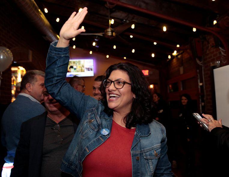 Rashida Tlaib uit Michigan is een van de moslima's die namens de Democraten het Congres in gaan. Beeld REUTERS