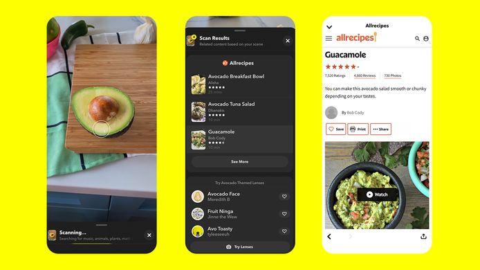 Geen idee wat je wilt maken met je ingrediënten? Snapchat heeft de oplossing.
