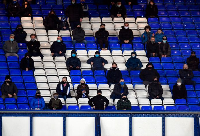 Fans van Everton tijdens het thuisduel met Arsenal op 19 december van dit jaar.