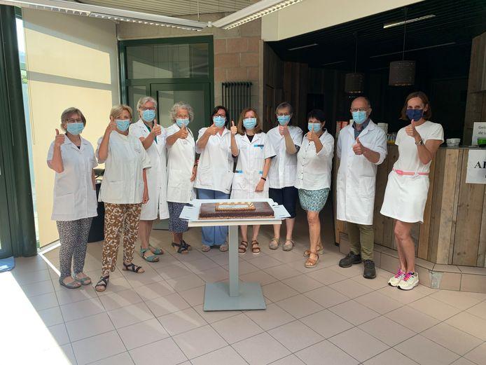 De vrijwilligers van het vaccinatiecentrum in Kortenberg worden deze week in de bloemetjes gezet voor hun inzet.
