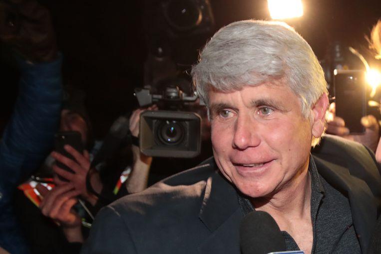 Onder meer voormalig gouverneur van Illinois Rod Blagojevich kreeg straftijdvermindering van de president. Beeld Getty Images