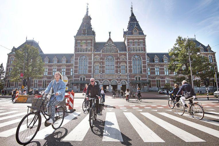 Op 17 september ziet het er vanaf de Museumbrug weer heel anders uit. Beeld Guus Dubbelman / de Volkskrant