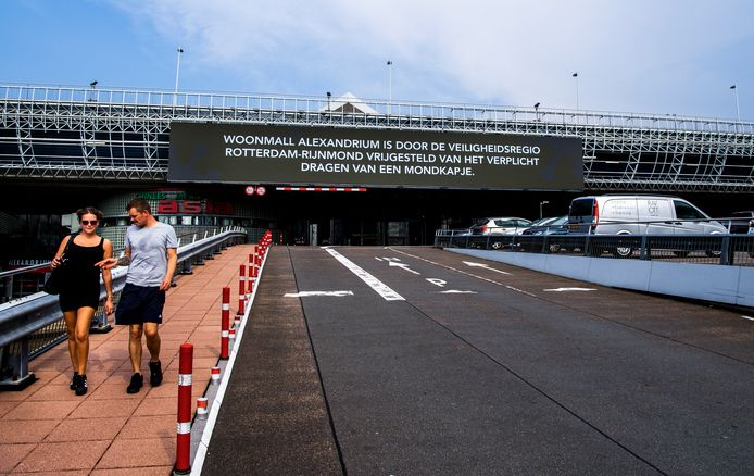 """""""Woonmall Alexandrium is door de Veiligheidsregio Rotterdam-Rijnmond vrijgesteld van het verplicht dragen van een mondkapje."""