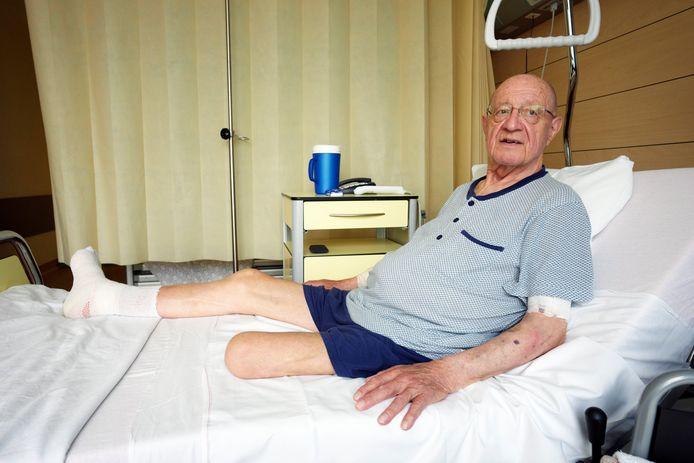 Tony Peeters a dû être amputé d'une partie de la jambe gauche l'année passée.