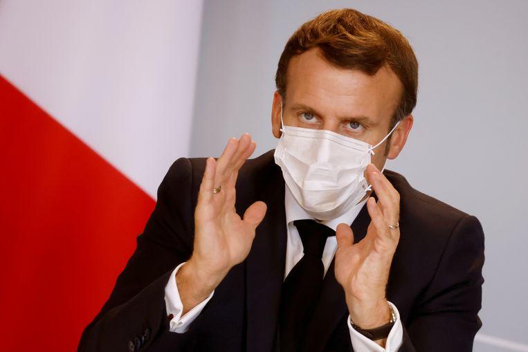De Franse president Emmanuel Macron. Beeld AP