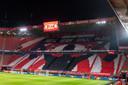 Vak P, waar normaal gesproken de harde kern van FC Twente zit.