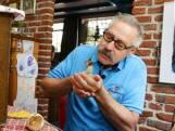 Eieren van beschoten ooievaar in veilige handen bij Piet