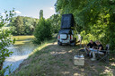 Land Rover Defender met daktent