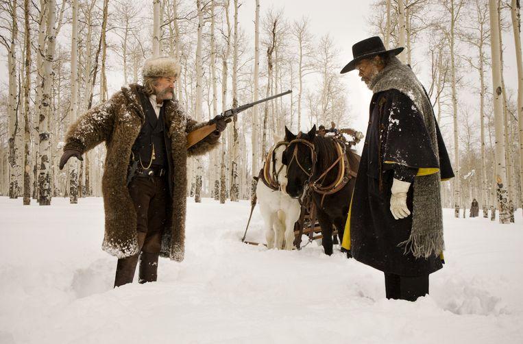 In The Hateful Eight van Tarantino verloopt het vervoer nog met paard en kar. Beeld rv