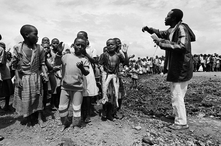 Vluchtelingenkamp Goma, 1994. Beeld Eddy Posthuma de Boer
