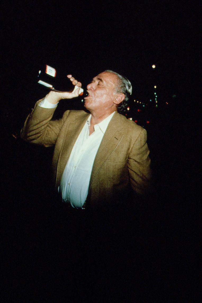 De Duits-Amerikaanse schrijver en dichter Charles Bukowski.  Beeld Sygma via Getty Images