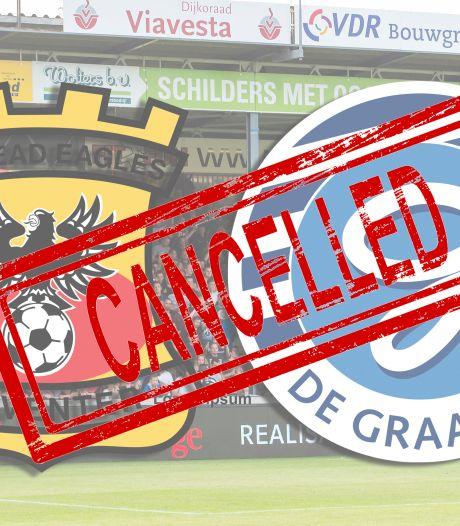 KNVB met GA Eagles om tafel na afgelaste wedstrijd tegen De Graafschap