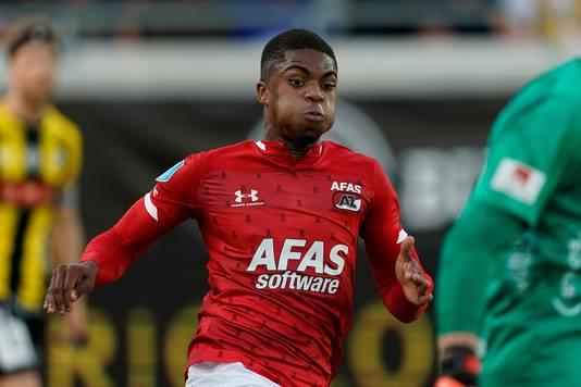 Myron Boadu van AZ tijdens het duel met BK Häcken.