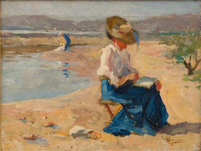 Bernard Janssen, Aan de Rijn bij Oosterbeek. Olieverf op doek, 1901-1909. Collectie Museum Arnhem