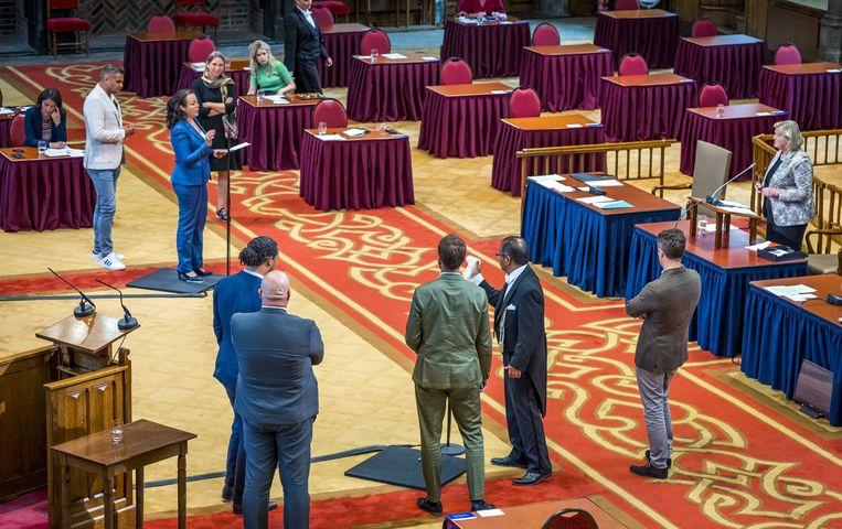 Tweeminutendebat in de Tweede Kamer over de situatie in Afghanistan.  Beeld ANP