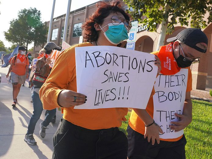 In Texas wordt duchtig geprotesteerd tegen de strenge abortuswet.