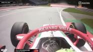 Wat een pech voor Mick Schumacher: weg podium nadat brandblusapparaat explodeert in zijn cockpit