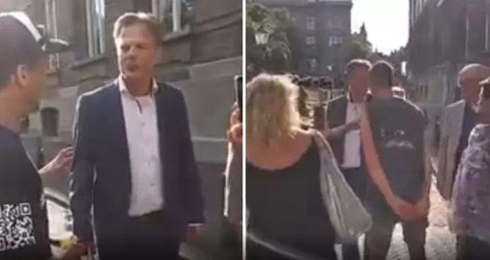 Kamerlid Pieter Omtzigt wordt op het Binnenhof bedreigd door een omstander.