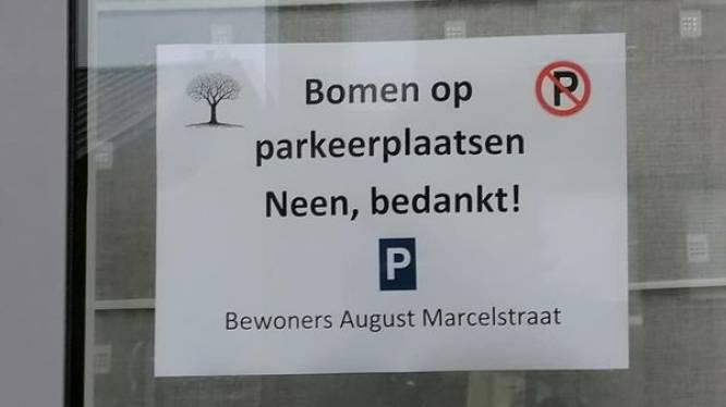 """Straat protesteert tegen komst van twee bomen: """"Om vergroening te realiseren moet er een parkeerplaats worden opgeofferd"""""""