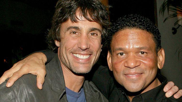 Jeffrey Pollack (links) en zijn zakenpartner Benny Medina. Beeld