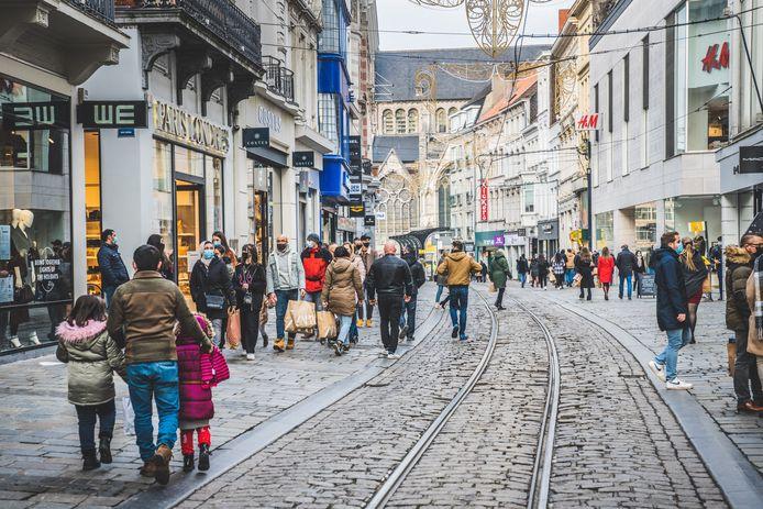 Ook na de coronacrisis gaat Gent het aantal shoppers blijven tellen.