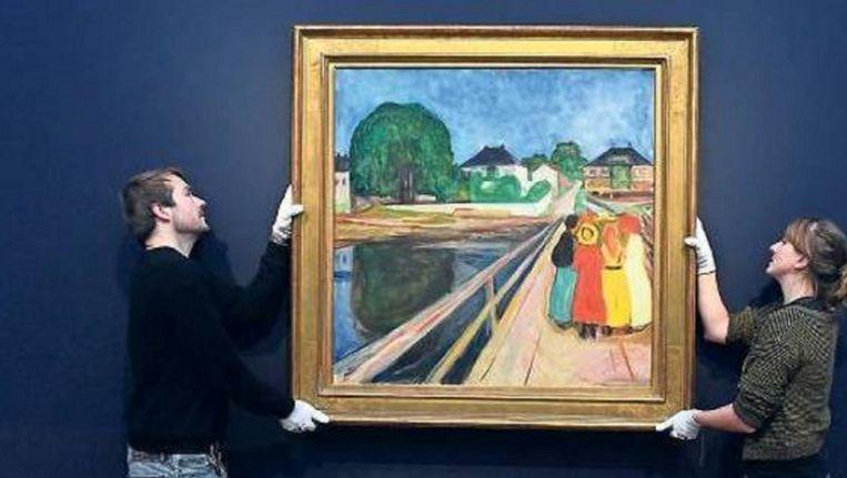 Edvard Munch's 'Meisjes op de Brug' Beeld EPA