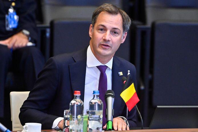 Premier De Croo op de NAVO-top in Brussel. BELGA PHOTO LAURIE DIEFFEMBACQ