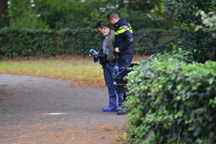 Onderzoek na de verkrachting in het Van Sonsbeeckpark in Breda, op 7 september 2017.