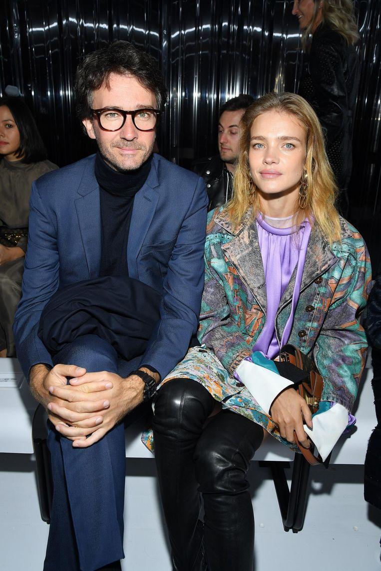 Antoine Arnault en echtgenote Natalia Vodianova vorige week in Parijs Beeld Pascal Le Segretain/Getty Images