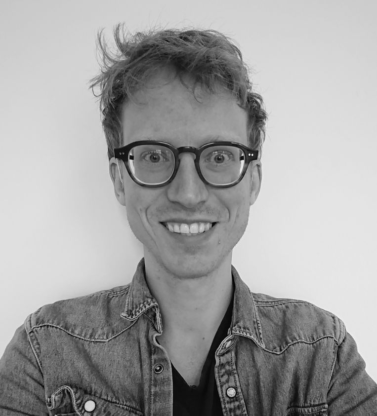 Luck van Leeuwen, docent Nederlands op het Atheneum College Hageveld in Heemstede. Beeld -